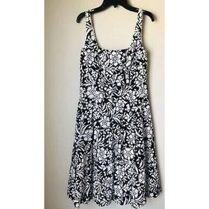 NWT Lauren Ralph Lauren Black And White Dress 6